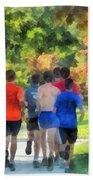Track Practice Beach Towel by Susan Savad