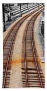 Tracks  Beach Towel