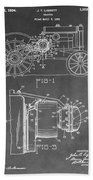 Tractor Patent Beach Towel