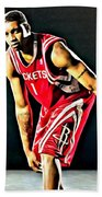 Tracy Mcgrady Portrait Beach Towel