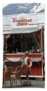 Tracys King Crab Shack Beach Towel