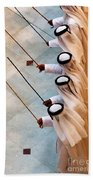 Traditional Emirati Men's Dance  Beach Towel