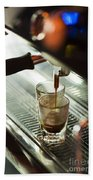 Traditional Espresso Coffee And Machine  Beach Towel