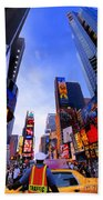 Traffic Cop In Times Square New York City Beach Towel
