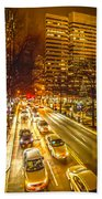 Traffic In A Big City Beach Towel