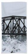Train Bridge Over The Genesee River Beach Towel