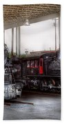 Train - Engine - 1218 - End Of The Line  Beach Towel