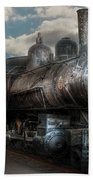 Train - Engine - 6 Nw Class G Steam Locomotive 4-6-0  Beach Towel by Mike Savad