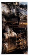 Train - Engine -  Now Boarding Beach Towel by Mike Savad