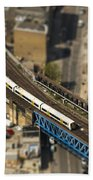 Train In London Beach Towel