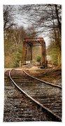 Train Memories Beach Towel by Debra and Dave Vanderlaan