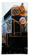 Train Museum - End Of The Line - Canadian National Railway Beach Towel