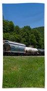 Train Watching At The Horseshoe Curve Altoona Pennsylvania Beach Towel