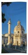 Trajans Column - Rome Beach Towel