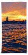 Tramonto Veneziano Beach Towel