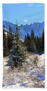Tranquil Mountain Scene Beach Towel
