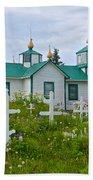 Transfiguration Of Our Lord Russian Orthodox Church In Ninilchik-ak Beach Towel