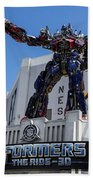 Transformers The Ride 3d Universal Studios Beach Towel
