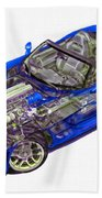Transparent Car Concept Made In 3d Graphics 1 Beach Towel