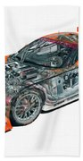 Transparent Car Concept Made In 3d Graphics 10  Beach Towel