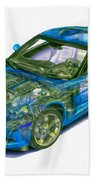 Transparent Car Concept Made In 3d Graphics 11 Beach Towel