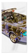 Transparent Car Concept Made In 3d Graphics 6 Beach Towel