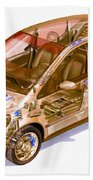 Transparent Car Concept Made In 3d Graphics 9 Beach Towel