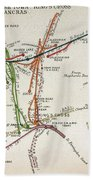 Transport Map Of London Beach Towel