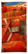 Transportation - Helicopter - Coast Guard Helicopter Beach Towel
