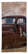 Transportation - Rusted Chevrolet 3100 Pickup Beach Towel