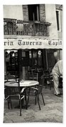 Trattoria In Venice  Beach Towel by Madeline Ellis