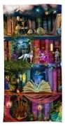 Fairytale Treasure Hunt Book Shelf Beach Towel