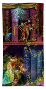Fairytake Treasure Hunt Book Shelf Variant 4 Beach Towel