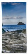 Trebarwith Strand Cornwall Beach Towel