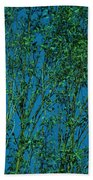 Tree Abstract Blue Green Beach Towel