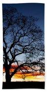 Tree At Sunrise Beach Towel