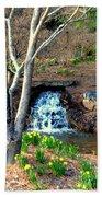Tree By The Brook Beach Towel