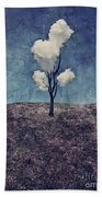 Tree Clouds 01d2 Beach Towel by Aimelle