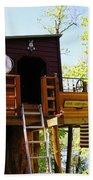Tree House Boat 2 Beach Towel
