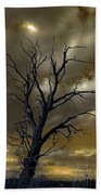 Tree In A Storm Beach Towel