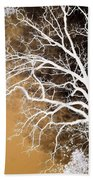 Tree In Abstract Beach Towel