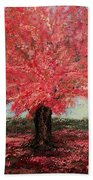 Tree In Fall Beach Towel