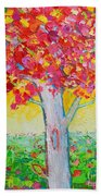 Tree Of Life In Spring Beach Towel by Ana Maria Edulescu