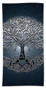 Tree Of Life Nova Blue Beach Towel
