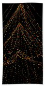 Tree Of Lights Beach Towel by Christi Kraft