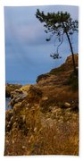 Tree On A Cliff II Beach Towel