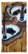 Tree Raccoons Beach Towel