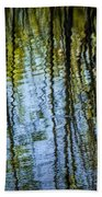 Tree Reflections On A Pond In West Michigan Beach Towel