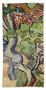 Tree Roots Beach Towel by Vincent Van Gogh