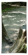 Tree Stump Stilts Beach Towel